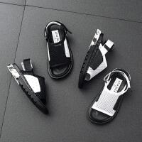 童鞋男童凉鞋新款夏季白色儿童凉鞋男透气沙滩鞋