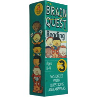 大脑任务智力开发问答卡片 英文原版 Brain Quest Reading 3rd Grade 3年级阅读 儿童英文启