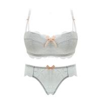 性感蕾丝甜美少女文胸内衣套装小胸聚拢无钢圈加厚调整型舒适胸罩