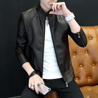 男士立领pu皮夹克青年短款上衣休闲皮衣韩版修身潮流外套