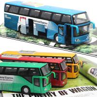 开门合金双层巴士模型仿真旅游大巴车公交车客车儿童玩具车