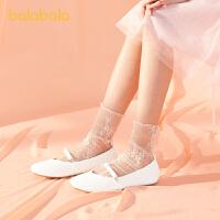 【2件4折价:72】巴拉巴拉官方童鞋儿童皮鞋女童公主鞋大童甜美萌夏季鞋子