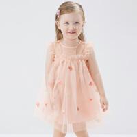 戴�S�拉女童�B衣裙2021夏�b新款裙子����洋�饩W�裙�和�公主裙
