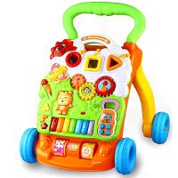 宝宝学步车手推车玩具婴儿童可调速防侧翻助步车6/7-18个月1岁 钢琴学步车