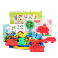 20180528024802981蘑菇钉组合插板积木 智力开发拼插拼图儿童玩具3-7岁