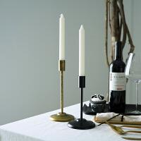 现代家居装饰摆件 复古做旧软装样板房餐桌蜡烛台