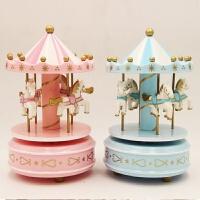 旋转木马音乐盒、儿童节生日模型摆件 饰品八音盒