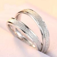 简约时尚 情侣戒指男女对戒 925银戒指女银饰品 结婚*刻字