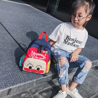 韩版儿童卡通亲子双肩包2019新款可爱拼色面包超人迷你尼龙书包