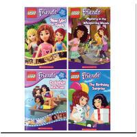 英文原版 Lego Friends #1-3-4-5# 4本New Girl In Town/The Birthday