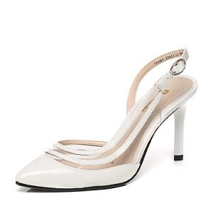Belle/百丽春季专柜同款漆牛皮女凉鞋3Z4B7AH6