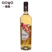 aoyo傲鱼智利原瓶进口红酒 傲鱼霞多丽干白葡萄酒2015年750ml*1