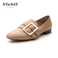 【大牌日3折】星期六(ST&SAT)2019年春季专柜同款羊皮革金属饰扣深口单鞋SS91111049