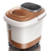 家用深桶足浴盆全自动按摩 洗脚盆足浴器 泡脚机电动加热足疗 豪华电动褐色