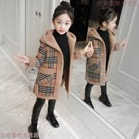 童装女童秋冬外套2018新款韩版呢子洋气中大儿童加绒加厚毛呢大衣