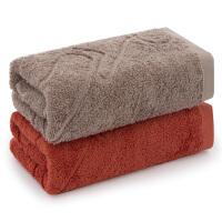三利 毛巾家纺 纯棉A类标准吸水毛巾两条装