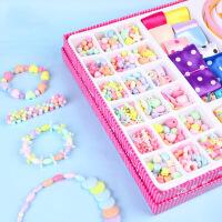 DIY女孩子饰品玩具动手训练手工项链手链宝宝培养串珠玩具
