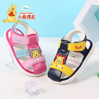 小熊维尼童鞋 宝宝学步鞋2017夏季新款儿童凉鞋婴儿鞋0-3岁软底宝宝鞋
