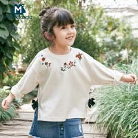 【2件3.8折】迷你巴拉巴拉儿童女长袖甜美卫衣2019春秋新款童装休闲长袖上衣