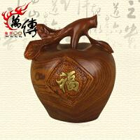 红木实木家居工艺品雕刻饰品木雕苹果摆件