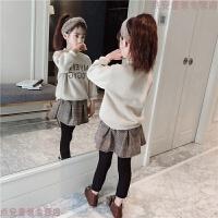 童装女童秋冬装卫衣套装2019新款韩版中大童儿童宝宝两件套洋气潮