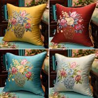 古典青花瓷抱枕绣花沙发靠垫套软包大靠枕