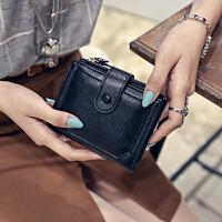两折钱夹零钱包新款女士钱包女短款学生简约搭扣折叠钱包