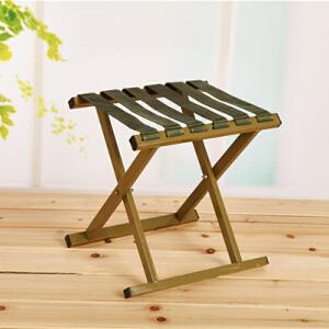 门扉 折叠凳 户外野营钓鱼凳军绿色马扎大承重铝合金凳子金属折叠凳