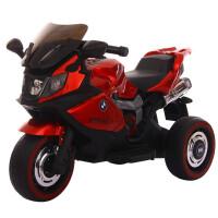 儿童电动摩托车男孩三轮车充电儿童电动车宝宝童车大号电瓶车小孩 白色双驱+遥控 +早教