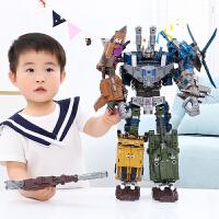 合金变形玩具金刚5加大黄蜂混天合体汽车机器人模型手办
