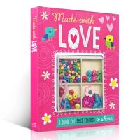 英文原版 Made With Love 环保材料 制作女孩手工DIY 日常书日记本 孩子的日常规划规范 制作自己的行为