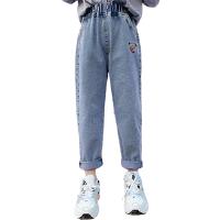 木木屋女童裤子百搭牛仔裤2021春夏新款女宝宝洋气哈伦裤中大童装裤子潮