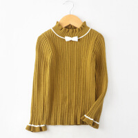 女童毛衣2018秋冬新款韩版半高领套头上衣儿童洋气长款针织打底衫