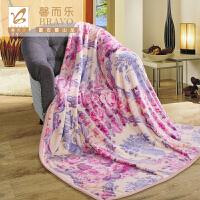 【年货直降】富安娜出品 馨而乐美丽印花双层舒柔毯 云毯双层舒柔毯