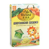 禾泱泱西兰花南瓜宝宝细面蔬菜面+小皮香蕉草莓苹果泥辅食组合装