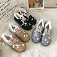 短靴女棉拖鞋chic韩版冬季新款软妹百搭学生加绒保暖防滑棉鞋女