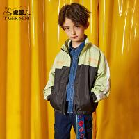 【春装上新:116.7元】小虎宝儿男童外套2020春装新款童装中大童洋气夹克儿童韩版上衣潮
