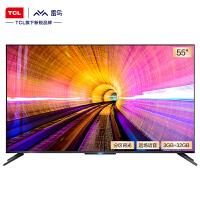 TCL雷鸟 55英寸轻享版 硬件分区背光全面屏 远场声控4K智能电视机