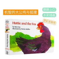 儿童英文原版绘本 Hattie and the Fox 大公鸡哈蒂和狐狸 廖彩杏书单 第8周 第10本 纸板书 Pat