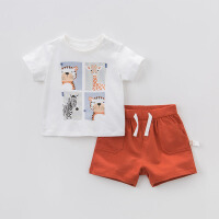 戴维贝拉夏装新款男童套装 宝宝休闲运动两件套DBA6453