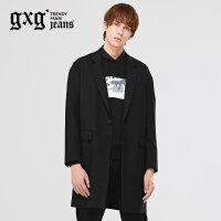 gxg.jeans男装秋季时尚青年潮流休闲中长款西装外套潮63601173