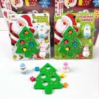 圣诞节礼物 可爱圣诞树乐园橡皮擦卡通儿童小学生文具奖品礼品