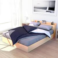 百意空间板式床落地单人床日式简约榻榻米卧室矮床环保低箱双人床