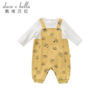 [2件3折价:78.9]戴维贝拉童装春季新款宝宝婴幼儿卡通连体爬服DBW10367