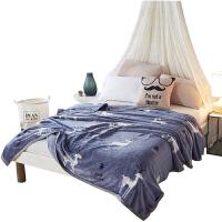 秋冬加厚单双人毛毯被子珊瑚绒盖毯法兰绒云貂绒毛巾被午睡毯床单