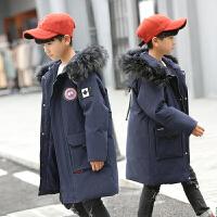 儿童羽绒服男童中长款新款男孩中大童冬装厚