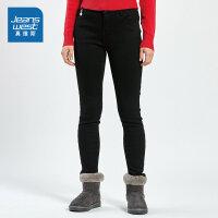 [秒杀价:35.9元,新年不打烊,仅限1.22-31]真维斯女装 冬装新款 时尚修身弹力贴合牛仔常裤