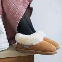 棉拖鞋女冬室内居家包跟厚底保暖毛毛情侣秋季月子鞋产后韩版加绒休闲鞋