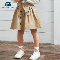 【限时2件4折】迷你巴拉巴拉女童短裙2019春季新款童装纯棉半身裙可爱修身裙子
