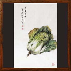 水墨小品《田园系列-百菜之首》于洪顺 实力画师R2488